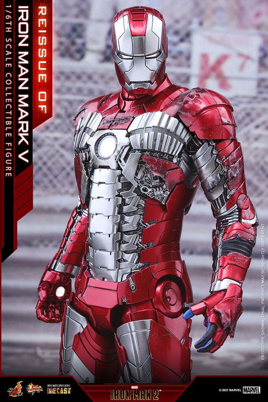 【再販】ムービー・マスターピース DIECAST『アイアンマン・マーク5』アイアンマン2 1/6 可動フィギュア-005