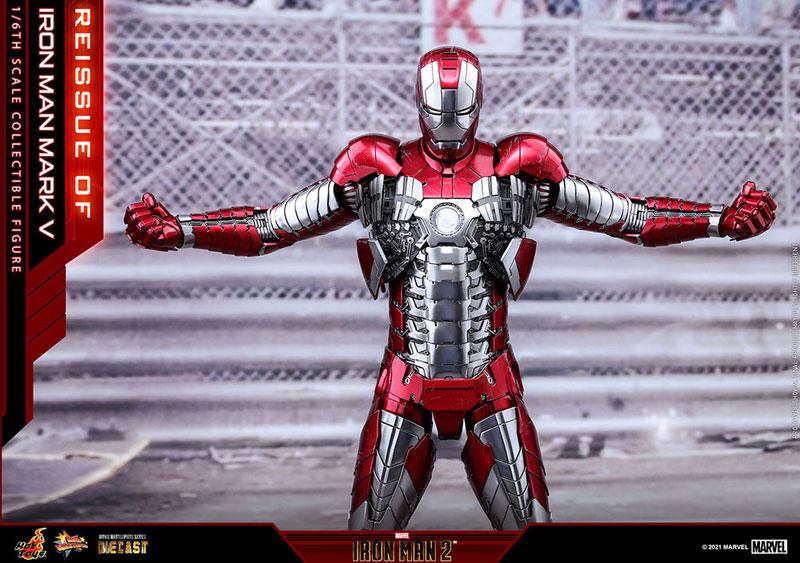 【再販】ムービー・マスターピース DIECAST『アイアンマン・マーク5』アイアンマン2 1/6 可動フィギュア-006