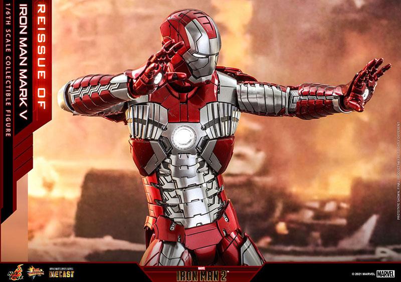 【再販】ムービー・マスターピース DIECAST『アイアンマン・マーク5』アイアンマン2 1/6 可動フィギュア-007