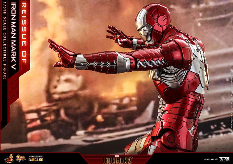 【再販】ムービー・マスターピース DIECAST『アイアンマン・マーク5』アイアンマン2 1/6 可動フィギュア-008