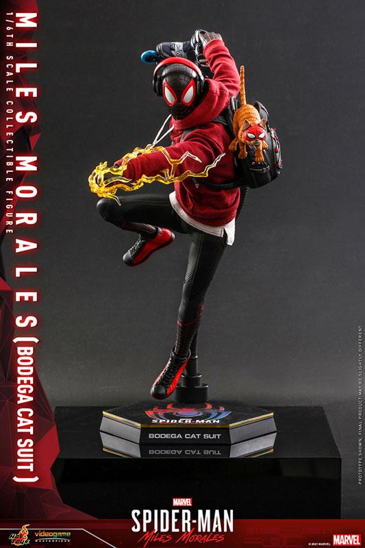 ビデオゲーム・マスターピース『マイルス・モラレス/スパイダーマン(売店の看板猫スーツ版)』Marvel's Spider-Man:Miles Morales 1/6 可動フィギュア-002
