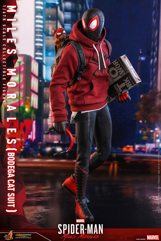 ビデオゲーム・マスターピース『マイルス・モラレス/スパイダーマン(売店の看板猫スーツ版)』Marvel's Spider-Man:Miles Morales 1/6 可動フィギュア-006