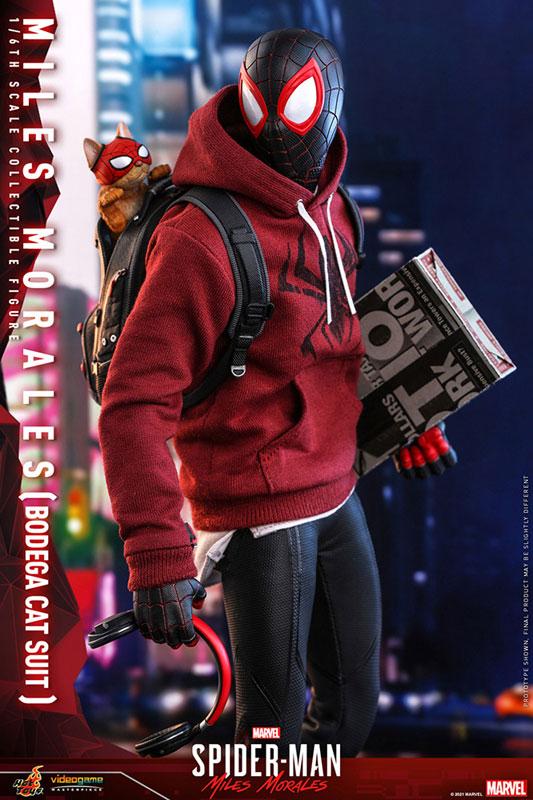 ビデオゲーム・マスターピース『マイルス・モラレス/スパイダーマン(売店の看板猫スーツ版)』Marvel's Spider-Man:Miles Morales 1/6 可動フィギュア-007