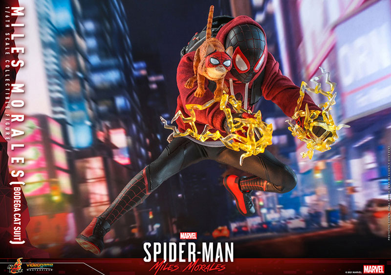 ビデオゲーム・マスターピース『マイルス・モラレス/スパイダーマン(売店の看板猫スーツ版)』Marvel's Spider-Man:Miles Morales 1/6 可動フィギュア-018
