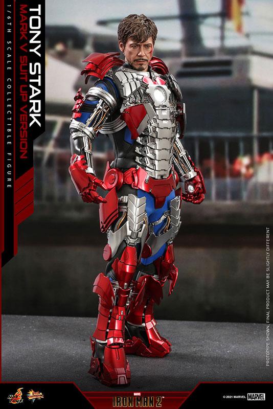 ムービー・マスターピース『トニー・スターク MarkV SuitUpVer』アイアンマン2 1/6 可動フィギュア-004