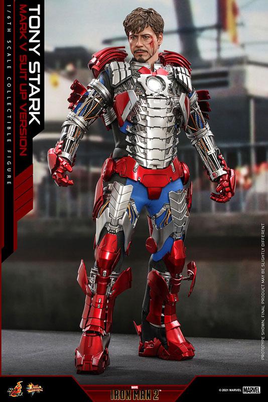 ムービー・マスターピース『トニー・スターク MarkV SuitUpVer』アイアンマン2 1/6 可動フィギュア-005