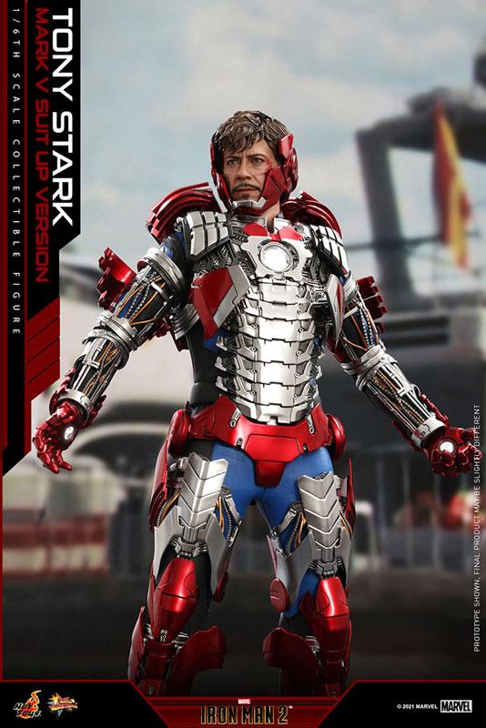 ムービー・マスターピース『トニー・スターク MarkV SuitUpVer』アイアンマン2 1/6 可動フィギュア-007