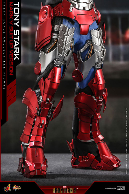 ムービー・マスターピース『トニー・スターク MarkV SuitUpVer』アイアンマン2 1/6 可動フィギュア-008