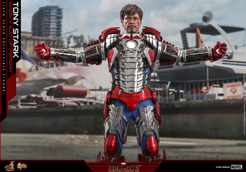 ムービー・マスターピース『トニー・スターク MarkV SuitUpVer』アイアンマン2 1/6 可動フィギュア-012
