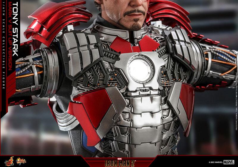 ムービー・マスターピース『トニー・スターク MarkV SuitUpVer』アイアンマン2 1/6 可動フィギュア-015