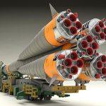 1/150 ソユーズロケット+搬送列車 プラモデル[グッドスマイルカンパニー]