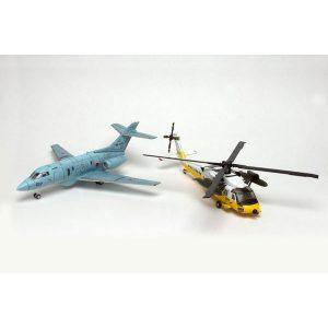 【よみがえる空】1/144『航空自衛隊 UH-60J & U-125A』プラモデル【プラッツ】より2018年12月発売予定♪