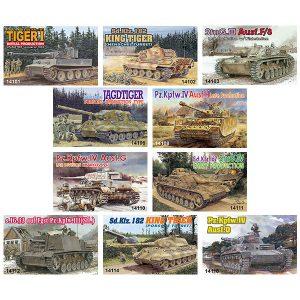 ドイツ軍戦車『ミニアーマーシリーズ』1/144 プラモデル 10個入りBOX【ドラゴンモデル】より2018年12月発売予定☆