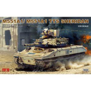 1/35『M551A1/TTS シェリダン』プラモデル【ライフィールドモデル】より2019年2月発売予定♪
