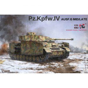 1/35『ドイツIV号戦車 G型(中/後期型)』プラモデル【ボーダーモデル】より2019年1月発売予定♪