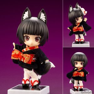 キューポッシュフレンズ『くろきつね-黒狐-』可動フィギュア【コトブキヤ】より2019年6月発売予定♪