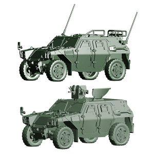 1/72 ミリタリーシリーズ『陸上自衛隊 軽装甲機動車(中隊長車/機関銃搭載車)』プラモデル【フジミ模型】より2019年3月発売予定♪