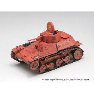 【ガルパン】1/35『九七式軽装甲車[テケ]』リボンの武者 プラモデル【ライフィールドモデル】より2019年7月再販予定♪