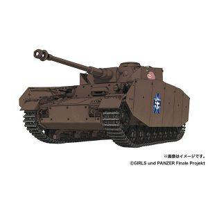 【ガルパン】1/35『IV号戦車H型 あんこうチーム 内部再現仕様 w/フィギュアセット』プラモデル【プラッツ】より2019年6月発売予定☆