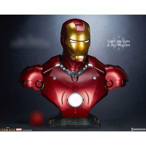 【アイアンマン】1/1『アイアンマン・マーク3』 等身大バスト【サイドショウ】より2020年5月発売予定♪