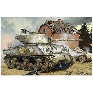 1/35『アメリカ中戦車 M4A3(76)W』プラモデル【モンモデル】より2019年7月発売予定♪
