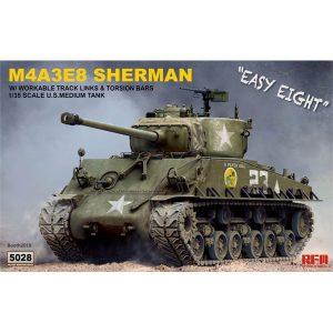 1/35『M4A3E8 シャーマン中戦車 イージーエイト w/可動式履帯』プラモデル【ライフィールドモデル】より2019年6月発売予定♪