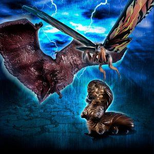 【ゴジラ キング・オブ・モンスターズ】HGシリーズ『HG D+EX01 モスラ&ラドン&モスラ幼虫セット』ガシャポン【バンダイ】より2019年11月発売予定♪