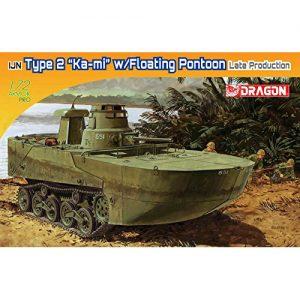 1/72『WW.II 日本海軍 水陸両用戦車 特二式内火艇 カミ 後期型フロート付 プラモデル』プラモデル【ドラゴンモデル】より2019年7月再販予定♪