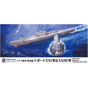 スカイウェーブシリーズ 1/700『ドイツ海軍 潜水艦 Uボート XXI型&XXIII型』プラモデル【ピットロード】より2019年7月発売予定♪