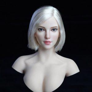 1/6ドール『美人女性ヘッド 018 A』ドール素体ヘッド【Super Duck】より2019年12月発売予定♪