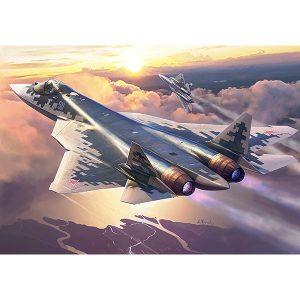 1/72『スホーイ Su-57』プラモデル【ズベズダ】より2019年10月発売予定♪