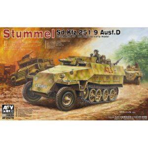 1/35『Sd.Kfz.251/9 Ausf.D 7.5cm戦車砲搭載火力支援車 前期型』プラモデル【AFVクラブ】より2019年10月発売予定♪