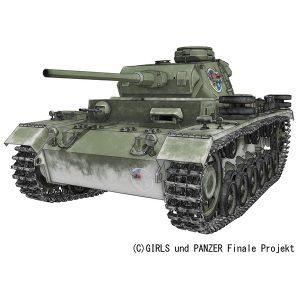【ガルパン】1/35『III号戦車J型 ヴァイキング水産高校』プラモデル【プラッツ】より2019年10月発売予定♪