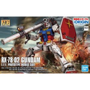 【ガンプラ】HG 1/144『RX-78-02 ガンダム(GUNDAM THE ORIGIN版)』プラモデル【BANDAI SPIRITS】より2020年7月再販予定♪
