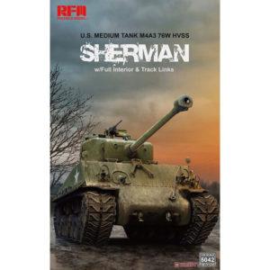 1/35『M4A3 シャーマン 中戦車 w/可動式履帯&フルインテリア』プラモデル【ライフィールドモデル】より2020年6月発売予定♪