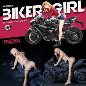 1/9 レジンキット『バイクガール』プラモデル【モンモデル】より2020年8月発売予定♪