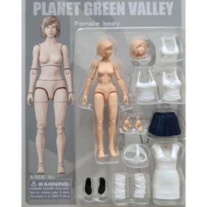 【プラネットグリーンバレー】『PLANET GREEN VALLEY 女性素体』4インチ 可動フィギュア【OUYING STUDIO】より2020年11月発売予定♪