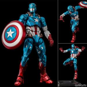 【スパイダーマン】ファイティングアーマー『キャプテン・アメリカ』Fighting Armor 可動フィギュア【千値練】より2021年4月発売予定♪