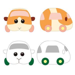 【モルカー】PUI PUI モルカー 抱っこぬいぐるみ『ポテト』『シロモ』『アビー』『チョコ』『テディ』全5種【バンダイナムコアーツ】より2021年6月発売予定☆